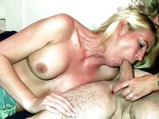 German Mom Caught Duo Fuck And Join In Ffm Threesome