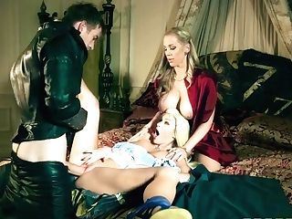 Danny D, Tina Kay And Rebecca Moore In Threesome Lovemaking At Favored Xxx Parody Queen Of Thrones