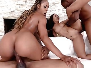 4some With Black Mummy Misty And Daugherty Adriana