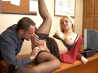 Gorgeous Golden Haired And Hot Assistant Sarah Vandella In Provocative