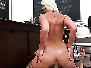 Big Jugged Blonde Tutor London Sea Penalizes Horny Student With Fuck