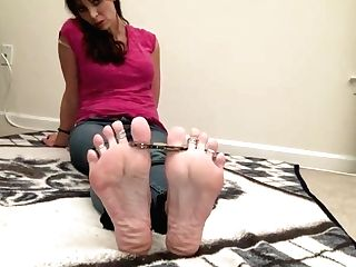 Cuffed, Fettered, And In Toe Handcuffs!