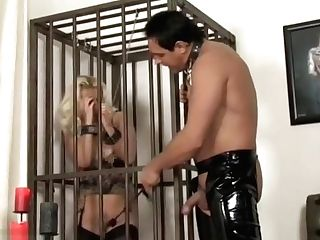 Horny Blonde Dirty Fuck-a-thon Sub Long Legged Lana Gags On Big Trunk And Is Fucked Hard