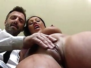 Real Chesty Cougar Gets Deep Throated