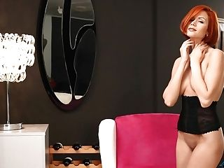 Natural Euro Red-haired Mom Kami Gets Naked Solo