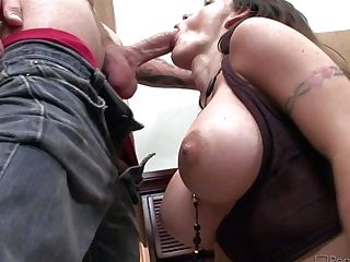 Attractive Black-haired With Mouth-watering Big Breasts Gives Dt Before Getting