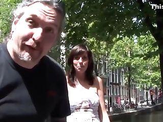 Doggystyled Amsterdam Hooker Gets Cumshowered