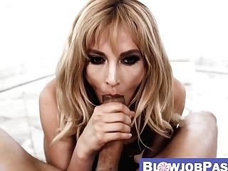 Super-naughty Mummy Mona Wales Covered In Drool After Deepthroat