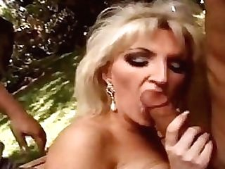 Sharing The Hot Wifey Outdoors 3some Arousement Session