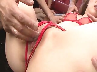 Rei Furuse Deals A Pile Of Dicks In All Sort Of Ways - More At Slurpjp Com