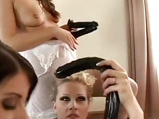 These Lezzie Bitches Sure Know How To Make The Best Out Of A Fuck Stick