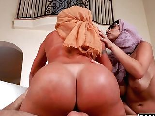 Two Big Bottomed Arab Wives Are Cheating On Spouse With Hot Blooded Sean Lawless