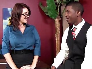 Charlee Chase Makes A Black Boy Fuck Her