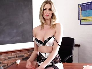 Elegant Educator Leah Gets Naked And Shows Off Off Her Perky Yummy Tits