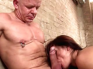 Skinny German Red-haired Milg Gang-fuck