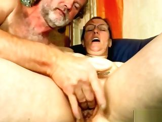 Nasty German Cougar Have Orgasm