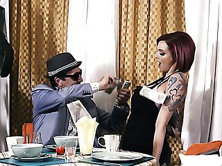 Weird Looking Cougar With Lots Of Tattoos Anna Bell Peaks Gets Fucked From Behind