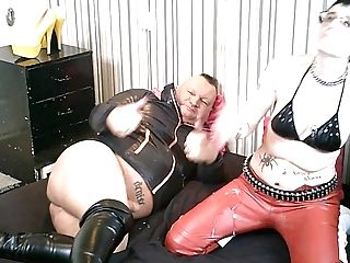 Spunk All Over My Bitch's Crimson Pvc Pants