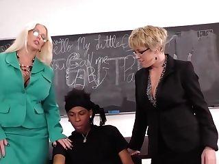 Alura Jenson And Dee Williams Take Big Black Cock Ass-fuck