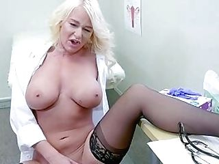 Female Doc Finds It Very Perverse To Masturbate At Work