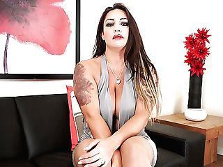 Awesome Tattooed Big Jugged Cougar Roxy R Taunts Her Moist Meaty Muff