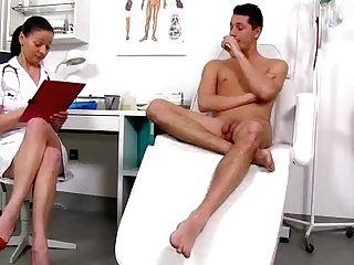 Bossy Head Nurse Cougar Renate Handjob With Youthfull Masculine