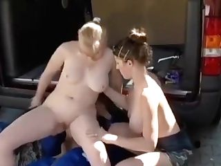 Anastasia Zhyrl And Blonde Fuck Mechanic