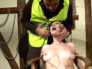 Horny Black-haired Gets Tormented And Fucked In Her Moist Cunt
