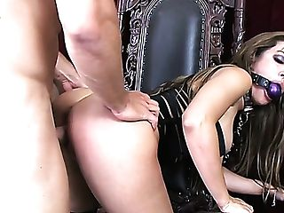 Clean-shaved Poon Of Ball-gagged Huge-chested Whore Capri Cavalli Is Cruelly Fucked