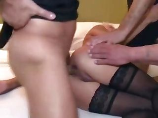 Matures Dual Ass Fucking Gang-bang
