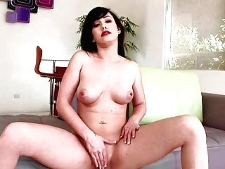 Delicious Brown-haired Jennifer Milky With Natural Tits And Yummy Bald