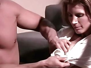 Momswithboys - Hot Mummy Gets Fucked Rectally With Massager On Vag