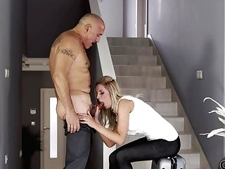 Old4k. Old Man And Chesty Wifey Come Home Only To Embark Amazing Hump