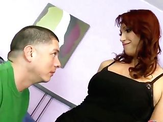 Ginger-haired Stepmother Seduced The Older Stepson And Made Him A Superb Blow-job! Fucked In Humid Honeypot And Jizz Shot!