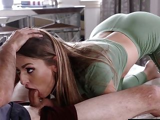 Natasha Starr Fellating And Slurping Her Stepsons Boner