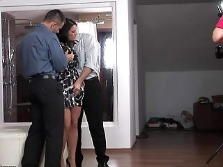 Brown-haired Honey Athina Takes Takes Off Her Sundress And Sexy