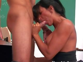 Dark Haired And Indeed Insatiable Lecturer Dark-haired Lezley Zen Loves