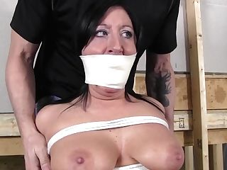 Dark Haired Mom, Ball-gagged, Frog-tied And Penalized In Restraint Bondage - Obsession Movie